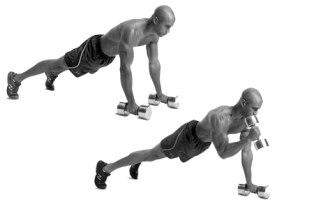 Упражнение молот на бицепс в положении упор лежа