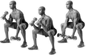 Упражнение молоток на бицепс в положении сидя