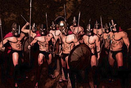 Тренировка 300 спартанцев
