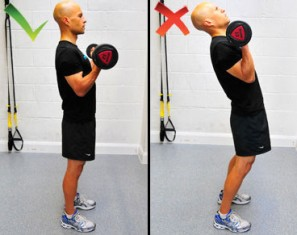 Ошибки упражнения на бицепс
