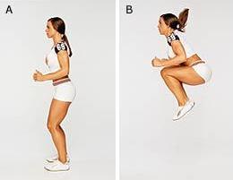 Прыжки c поджиманием ног